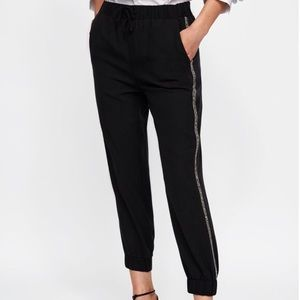Zara z1975 denim black pants